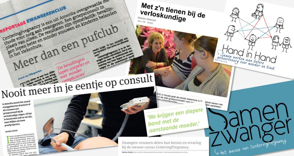 Artikelen over CenteringPregnancy in de media