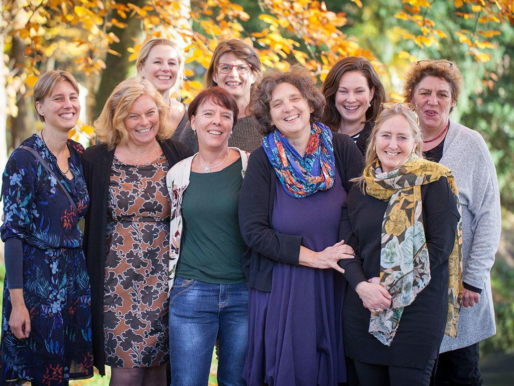Centering-team: Katja v. Groesen, Annemiek vd. Kraan, Karin Bosman, Yvonne Strengers, Nalonya vd. Laan, Marlies Rijnders, Nicole v. Melsen, Lonneke de Roovere, Inger Aalhuizen.