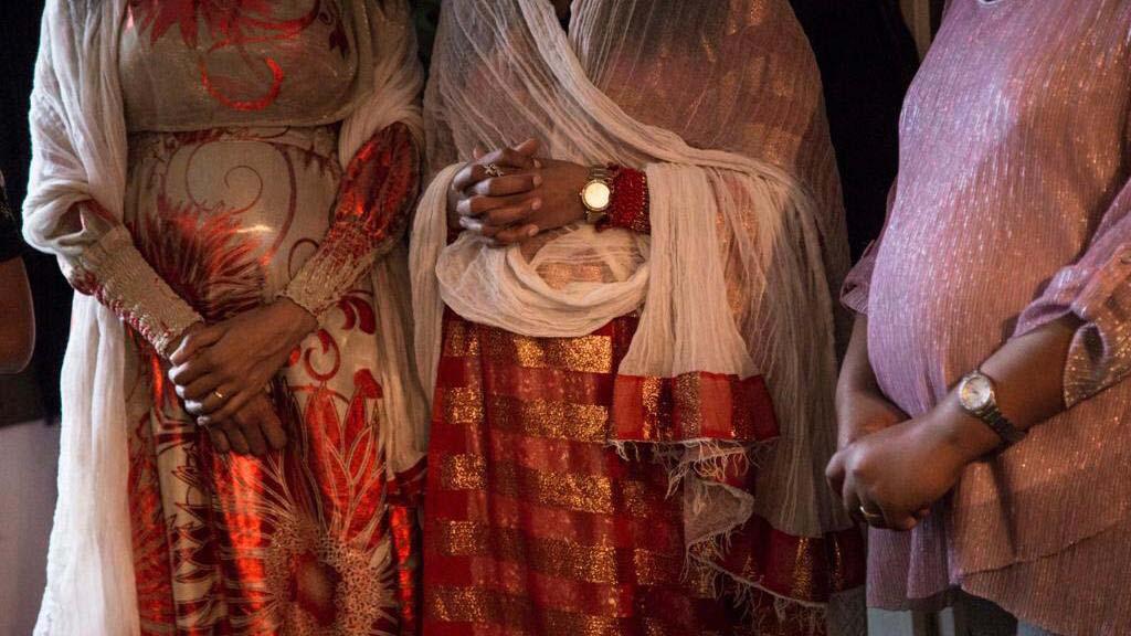 zwangere buiken van Eritrese vrouwen